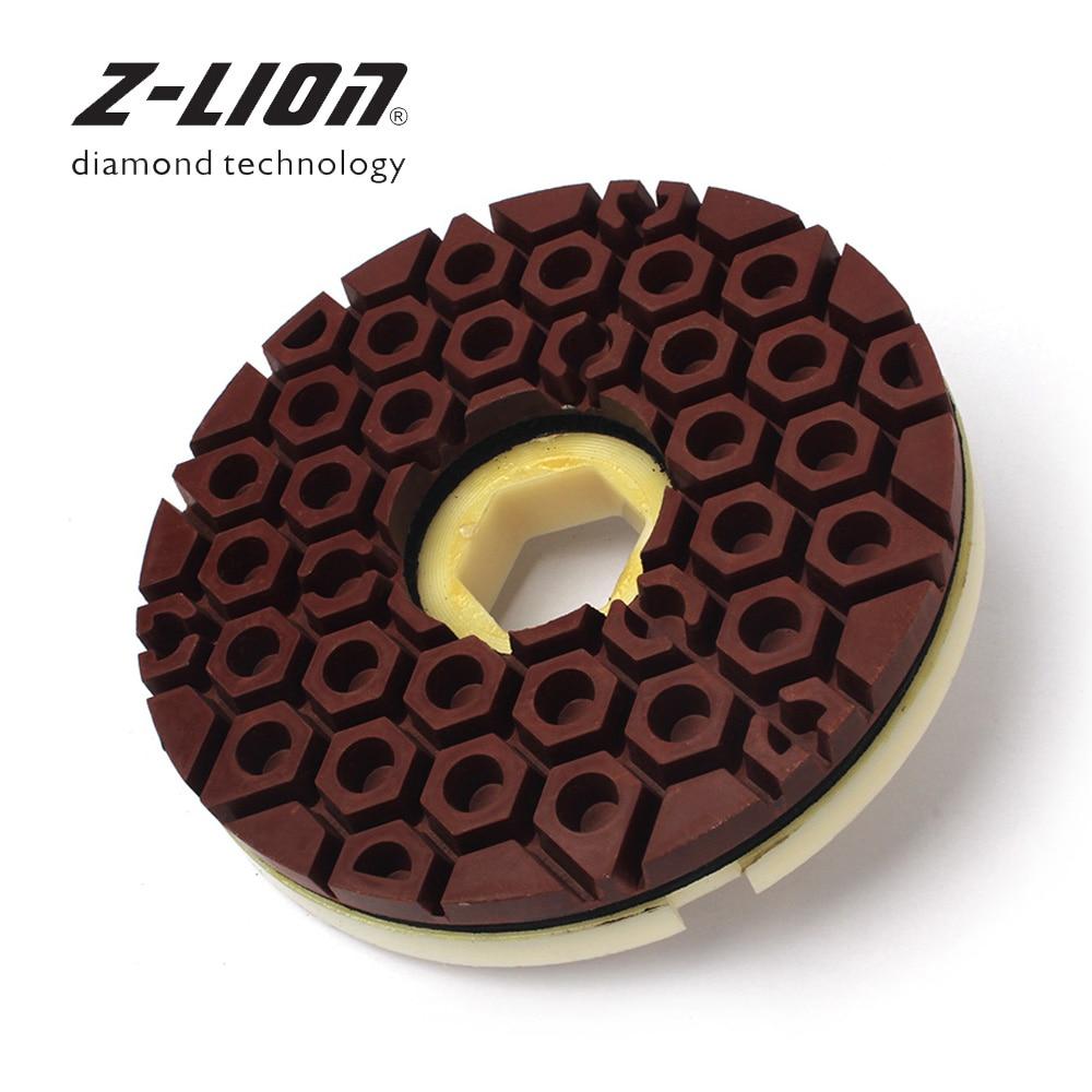 Z-LION 6 pouces diamant bord tampon de polissage escargot serrure disque abrasif 150mm bord meule pour marbre granit roue de polissage