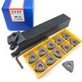 1pcs MWLNR2020K08 Tornitura holder + 11pcs WNMG080408 Inserti In Metallo Duro Tornio Set di Utensili da Taglio CNC tornitura Esterna strumento MWLNR