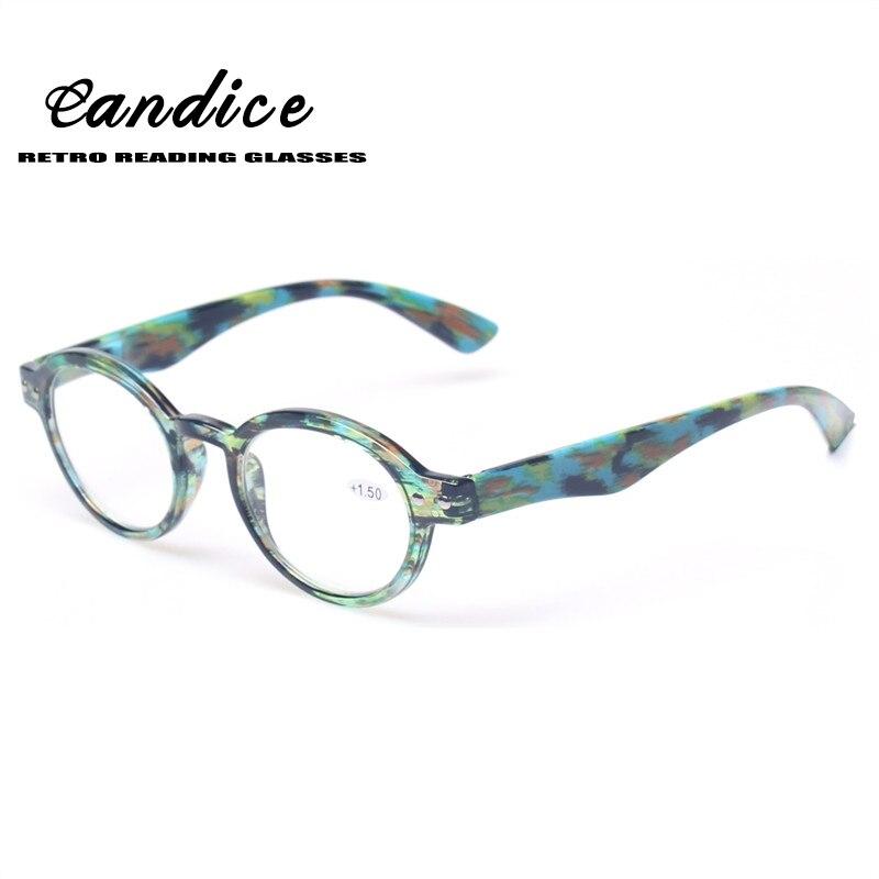 Lesebrille Großen Wert Qualität Männer und Frauen Leser Mit Blume Design Klassische Retro vintage Stil Oval Eyewears
