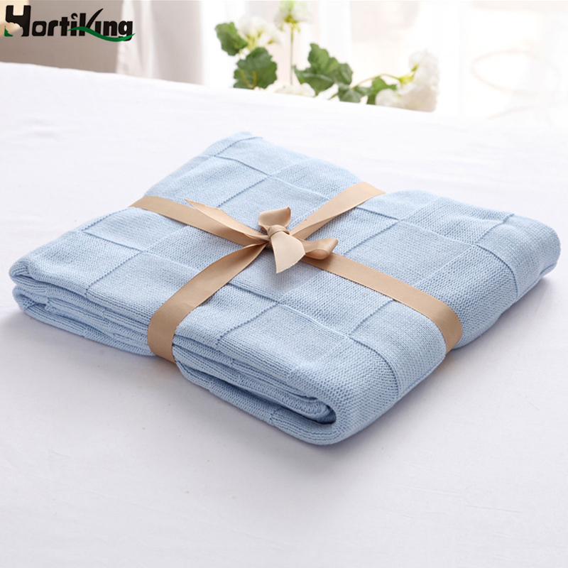 High Quality 100% Cotton Knit Blanket For Summer/Autumn On Sofa/Bed/Home 110*180cm Knitted Blankets Shawl Blanket For Adults