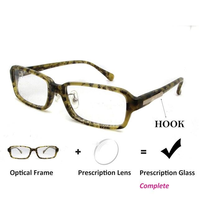 Mulheres Óculos Com Lente Miopia Óculos de Leitura Prescrição Acetato  SORBERN Vermelho Verde Retangular Lunette Frame 02a0d4af9f
