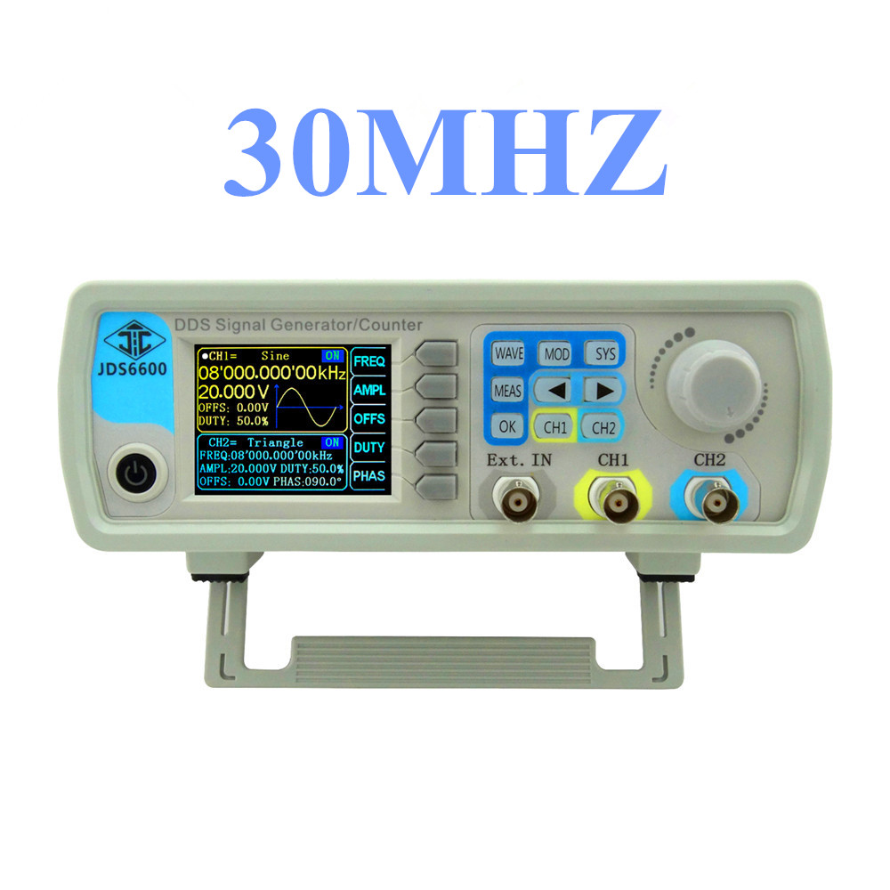 JDS6600 Series 30MHZ Digital Control Signal Generator Dual-channel DDS Function  Arbitrary sine Waveform frequency meter  46%off купить
