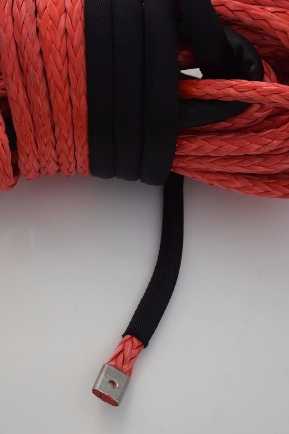 Red 14mm 45m Synthetic Rope UHMWPE Winch Rope ATV off road Racing Rope Kevlar Winch Cable in Towing Ropes from Automobiles Motorcycles