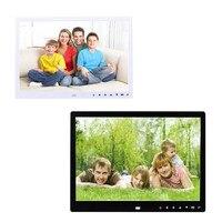 2017 New Fashion 12 inch Vertical Hi-definition HD LCD Foto Digital Photo Frame and Clock Slideshow USB MP3/4 Player Black SE6b