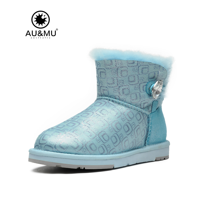 Women 2017 New Special Offer Fur Flat With Winter Slip-on Round Toe Rubber Print Snow Boots Winter Boots Botas Mujer Aumu N043 snow fur slip on fashion round toe winter boots women ankle flat shoes celebrity gray bow booties chinese female short new