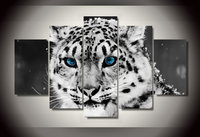HD Printed Snow Leopard Black White Picture Painting Wall Art Room Decor Print Poster Picture Canvas