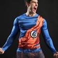 2017 Новый Мяч Z Мужчины 3D Dragon Ball Z Футболка вегета Гоку Фитнес Сжатия Рубашка Мода Человек Crossfit футболка Нежный Одежда