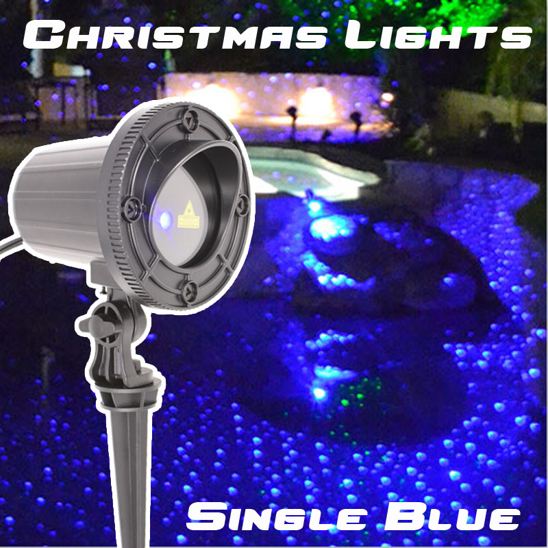 купить Motion Blue Laser Lights Projector Showers Outdoor Christmas Decorations for home