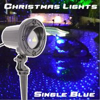Motion Blue Laser Lights Projector Showers Outdoor Christmas Decorations for home