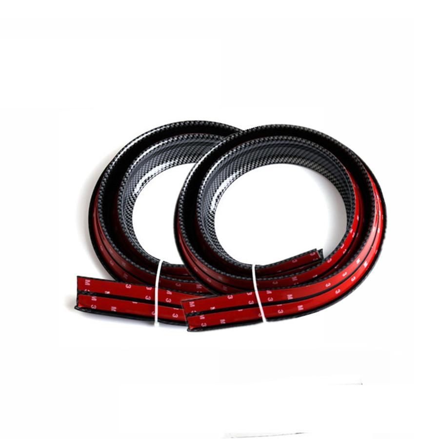Pair Universal 1.5mx4cm widen Big Size car rubber fender flare mudguard trim for 2 tires DIY wheel eyebrow Protector stripe