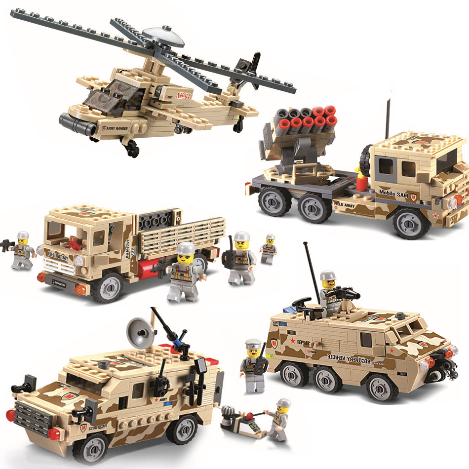 Kazi Military Building Blocks Bricks Figures Army Cars Planes Helicopter Weapon Compatible Legoe Educational Toys For Children 2017 kazi 98405 wz 10 military helicopter blocks 480pcs bricks building blocks sets enlighten education toys for children