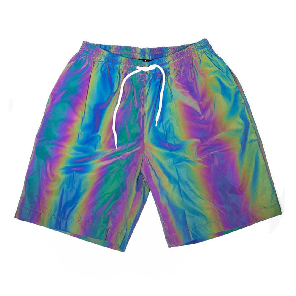 Rainbow Reflective Jacket with Hoodie Pants Shorts Waterproof Safety Jacket
