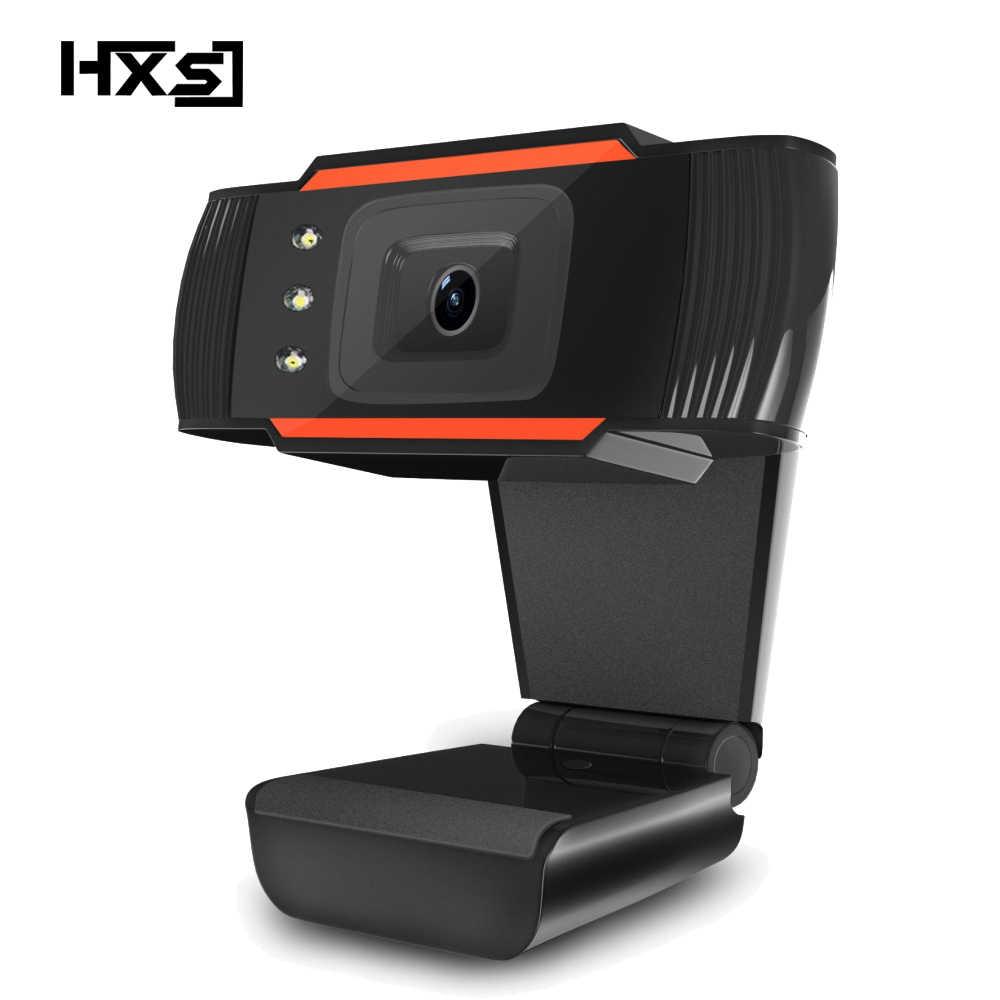 Hxsj hd كاميرا كاميرا كمبيوتر مع ميكروفون ميكروفون امتصاص 3led 480 وعاء لسكايب لالروبوت tv تدوير كاميرا كمبيوتر usb ويب