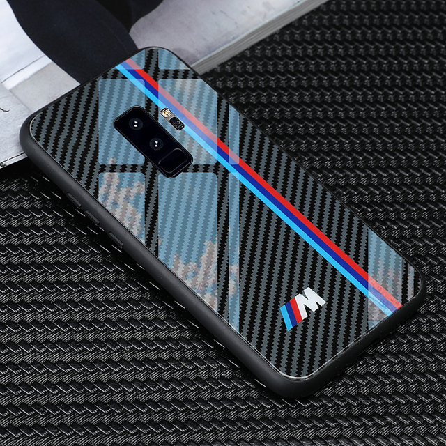 online retailer e8a82 f693c US $8.78 20% OFF|Aliexpress.com : Buy luxury tpu+Tempered glass bmw series  Phone Case for Samsung Galaxy S8 S9 Plus note 8 9 S10 cases from Reliable  ...