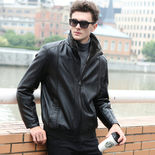 2016 New Arrival Winter Fur And Leather One Piece Leather Jacket Men Plus Size M-3XL,Genuine Leather Jacket Winter Jacket Men