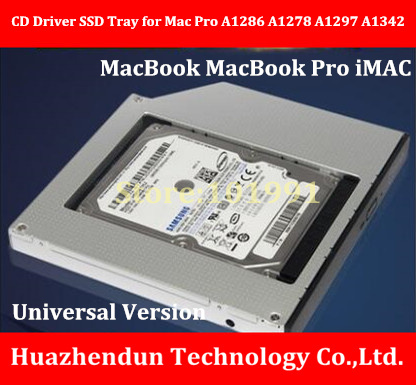 New Product  Universal Edition  CD Driver  SSD Tray  for M-A-C-P-R-O A1286 A1278 A1297 A1342   Support HDD&SSD цена 2017