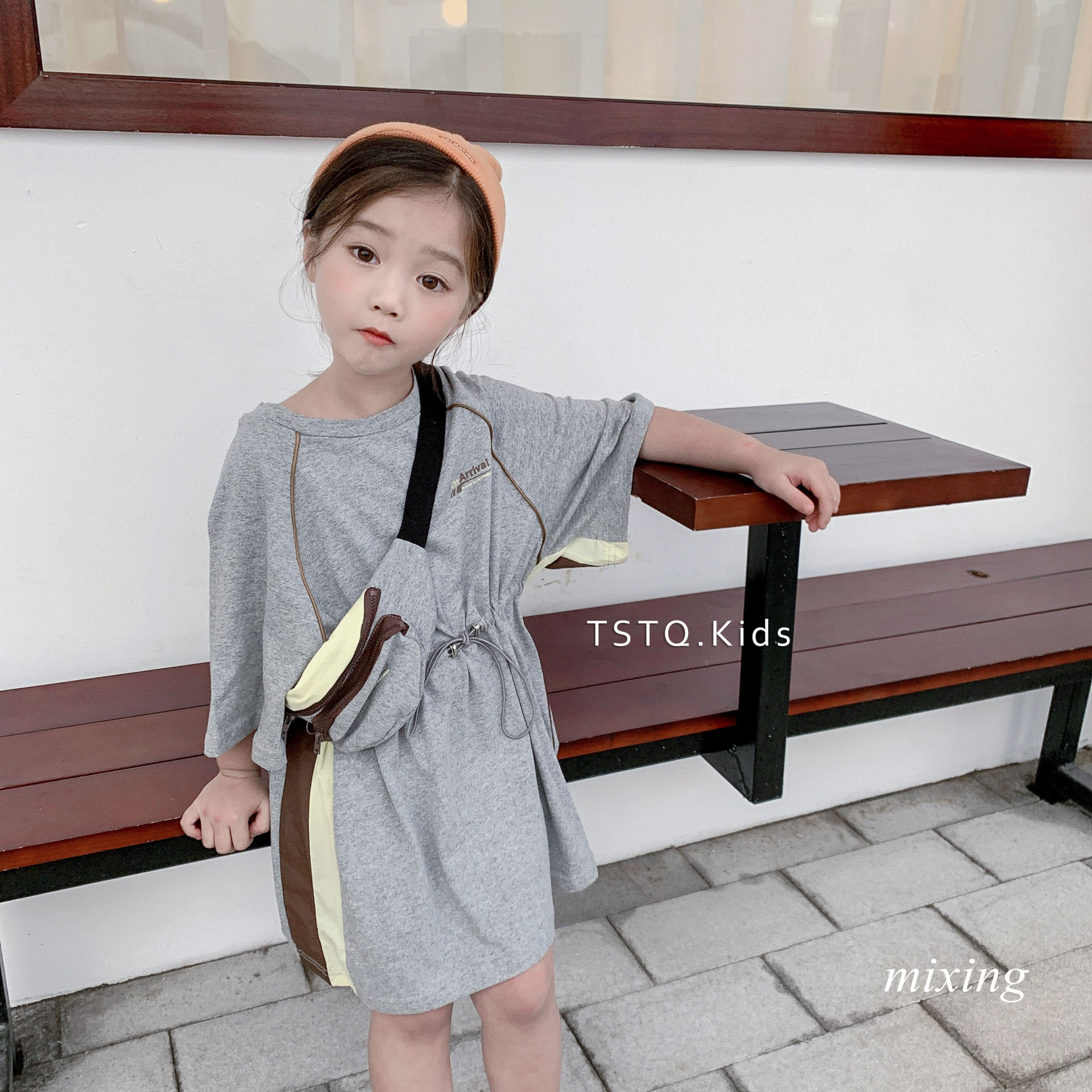 Korean summer dress girls long T-shirt 2019 new cute
