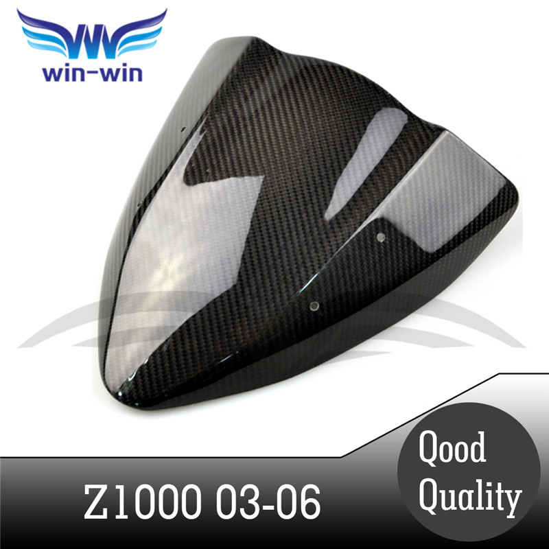 ФОТО new motorcycle accessories black color caron fiber fuel gas tank protector pad shield rear carbon fiber for KAWASAKI Z1000 03-06