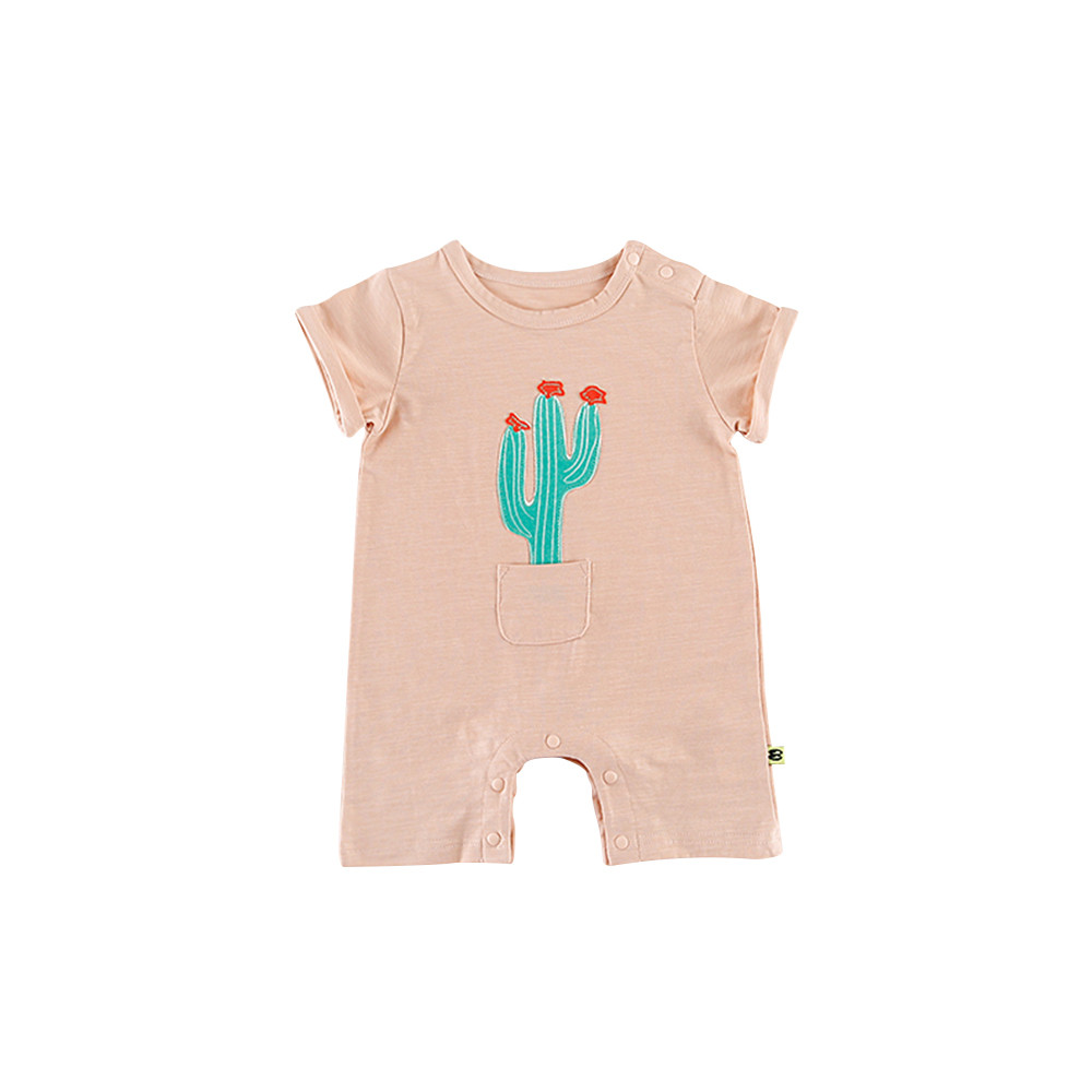 Nowonarodzone chłopcy Romper Summer Baby Boy Girl Cartoon Rośliny - Odzież dla niemowląt - Zdjęcie 2