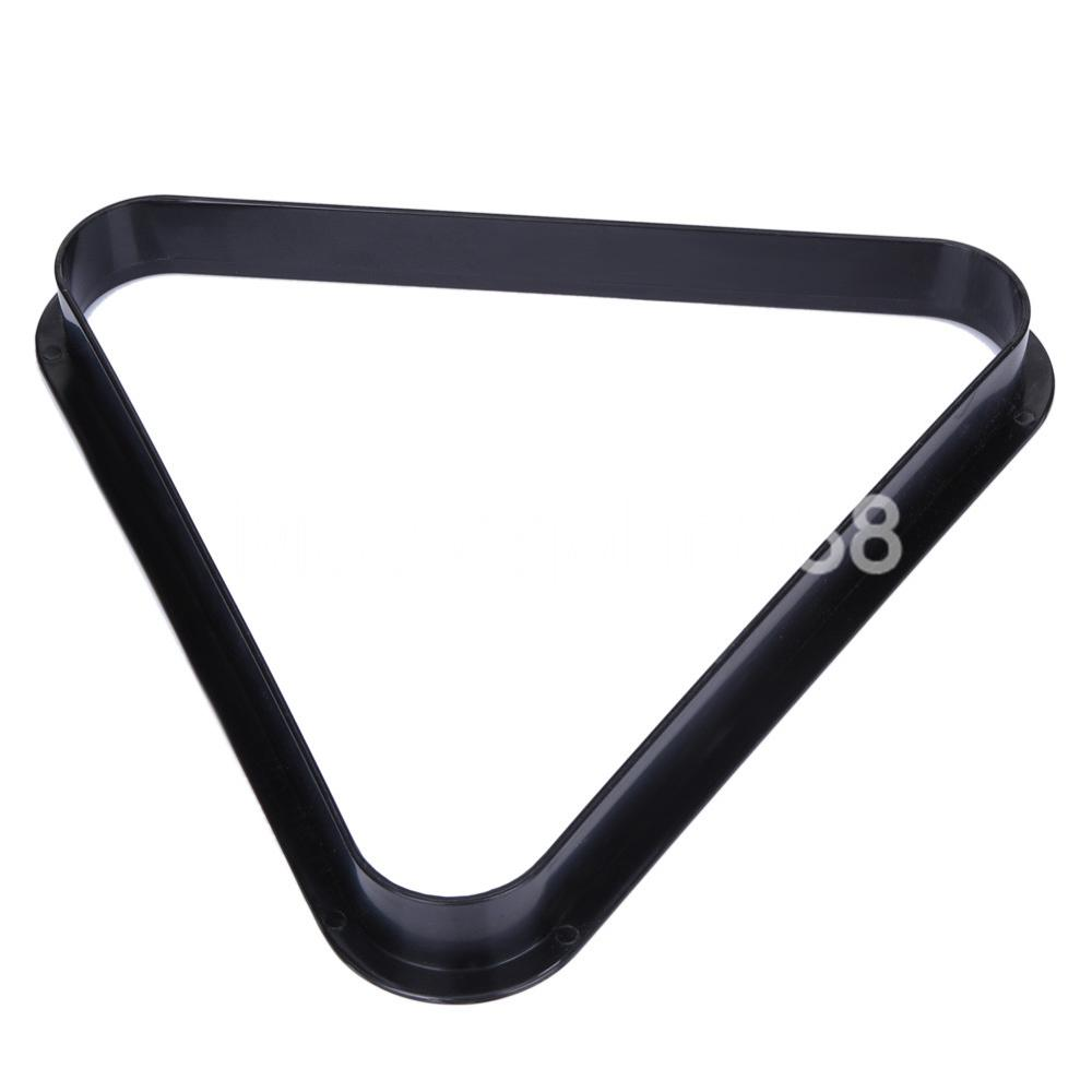 Pool Billiards Snooker Ball Rack Normal Black Plastic Triangle Standard Size Snooker Accessories Free Shipping Wholesales