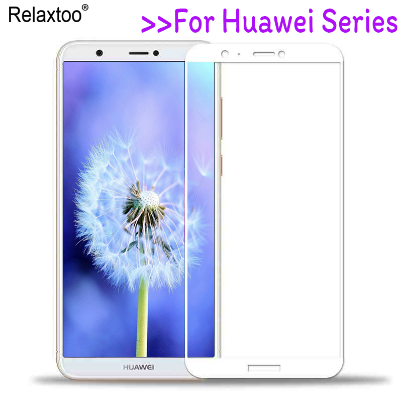 For Huawei P Smart case Tempered Glass For Huawei Nova 2 Plus 2S Smart P8 Lite 2017 Full Cover Screen Protector Glass Film Case