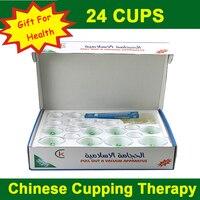 Tiếng anh verson! 24 cup tanks Trung Quốc hút chân không y tế thử nếm sets magnetic hijama cơ thể điều trị thư giãn massager cho chăm sóc sức khỏe