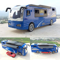 Brand New 1/50 Scale Motor Homes Bus With Small Car Diecast Metal Pull Back Sound&Light Car Model Toy For Collection/Gift/Kids