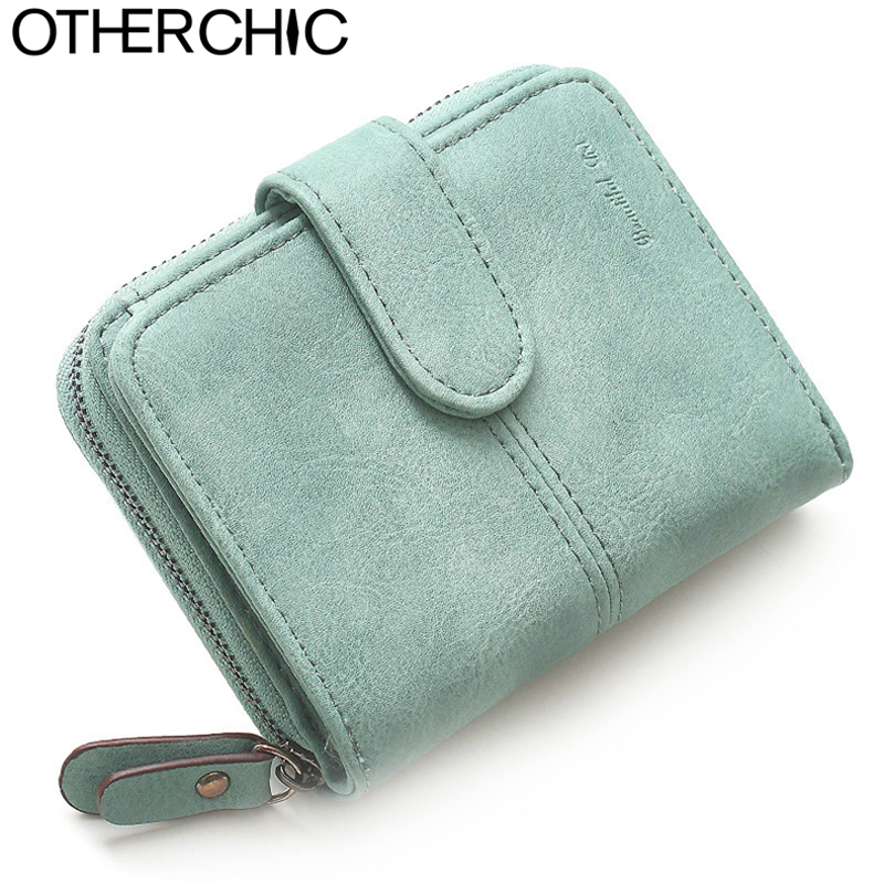 OTHERCHIC Nubuck Leather Women Short Wallets Ladies Fashion Small Wallet Coin Purse Female Card Wallet Purses Money Bag 6N08-15 otherchic women short wallets small simple wallet zipper coin pocket purse woman female roomy wallet purses money bag 7n01 14