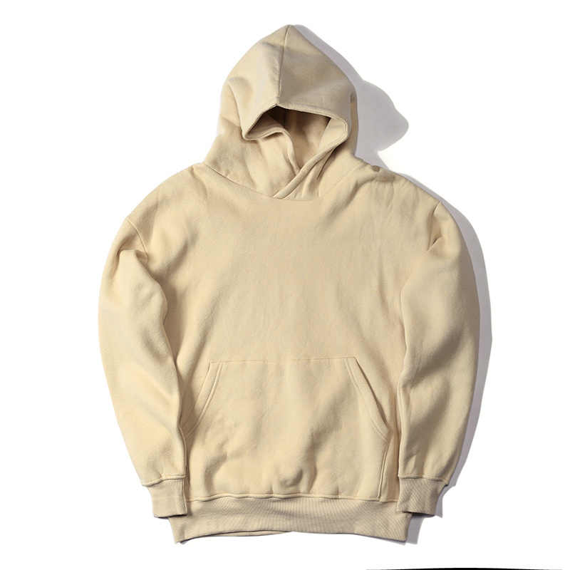 New streetwear pullovers 드레이크 카니 예 웨스트 플레인 플리스 오버 사이즈 까마귀 kpop 의류 tracksuit hoodies men 힙합