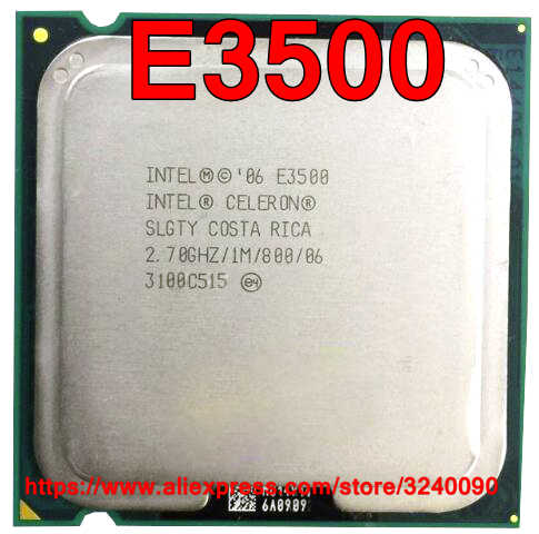 Asli CPU Intel Celeron E3500 Prosesor 2.70 GHz/1 M/800 MHz Dual-Core Socket 775 Gratis pengiriman Cepat Kapal