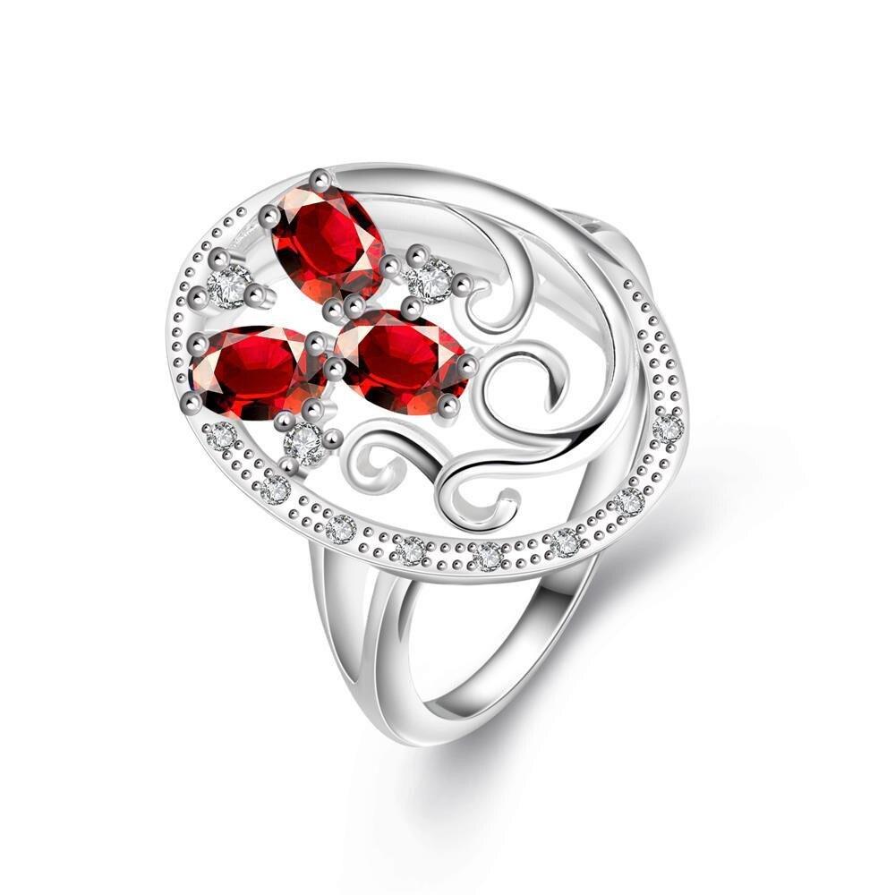Trio-red Red Stone Swirl Design Pendant Petite Ring Size 8 коляска 2 в 1 chicco trio stylego red passion