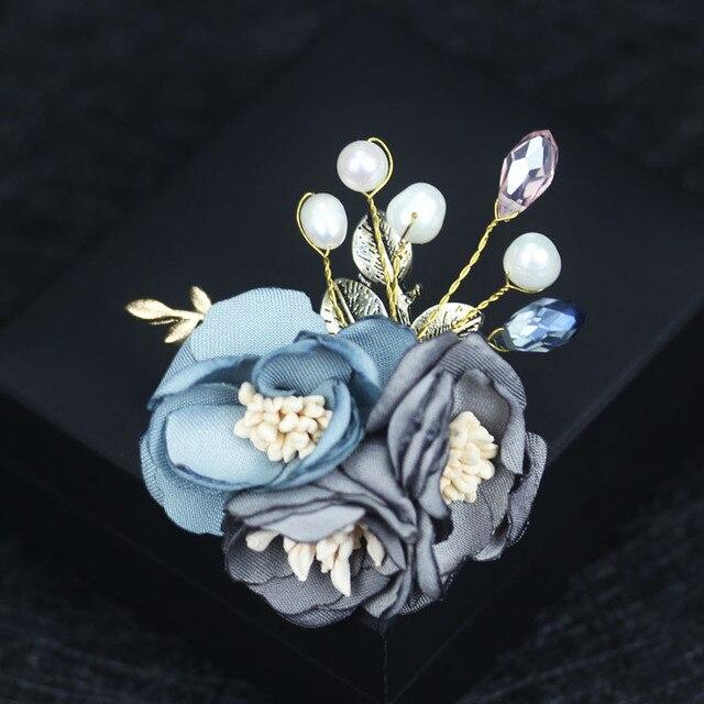 I-Remiel ручной работы высококлассная ткань брошь женский цветок броши пальто кардиган булавка для женщин шаль платье костюм рубашка аксессуары