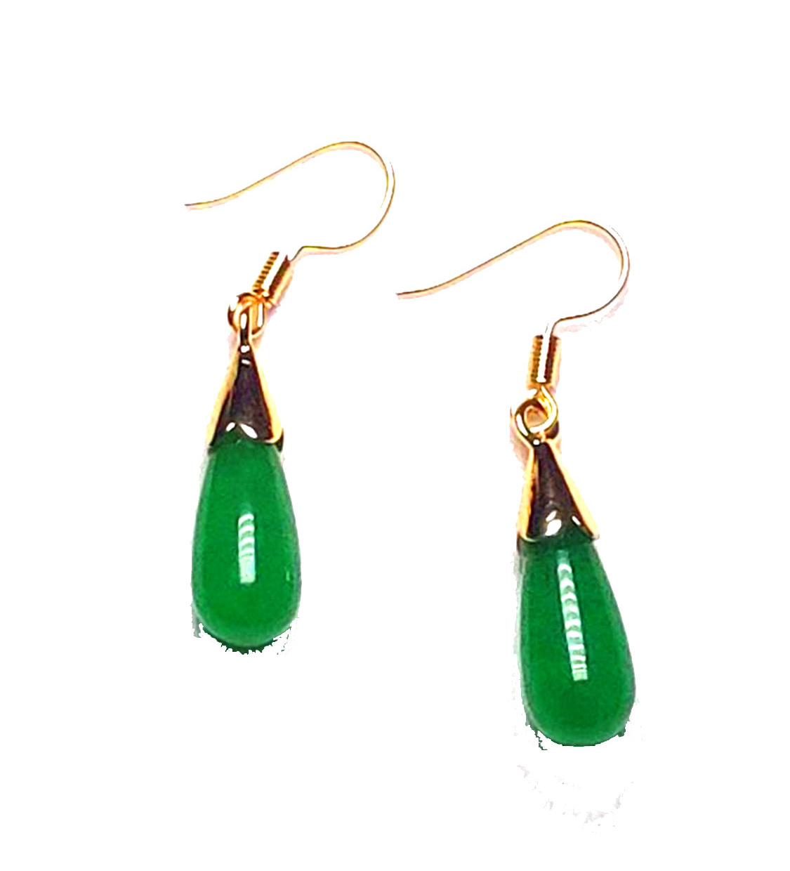 Koraba 14K Gold Plated Natural Green Jadeite Jade Drop Women Earrings Gemstone Earrings  Yellow Stone EarringsKoraba 14K Gold Plated Natural Green Jadeite Jade Drop Women Earrings Gemstone Earrings  Yellow Stone Earrings