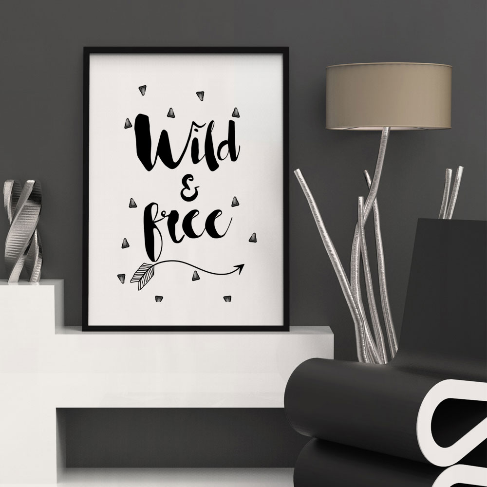 wild u0026free wall art print wall posters simple home decor nordic wall art arrow painting posters