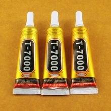 Cola T-7000 preta adesiva multiuso de 15ml, resina epóxi e vidro, tela touchscreen e reparo de celular com 10 peças cola t7000