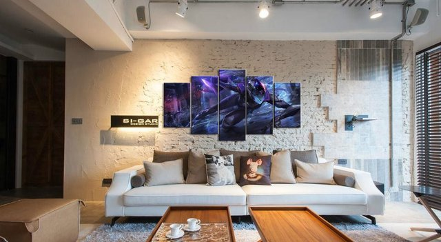 5 Panel LOL League of Legends Vayne Game Canvas Printed Painting For Living Room Wall Art Decor HD Picture Artworks Poster 2