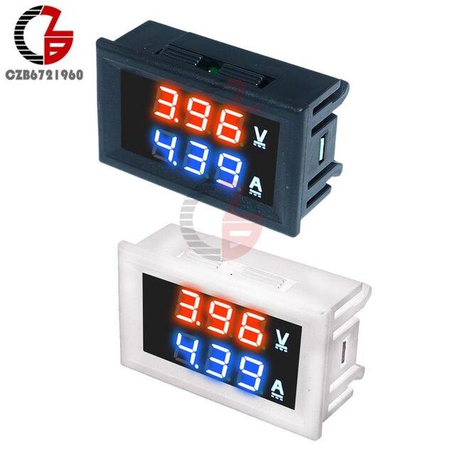 DC 100V 200V 10A Mini Dual Display LED Digital Voltmeter Ammeter 3 4 Bit Current Voltage Meter Car Auto Voltage Tester Detector