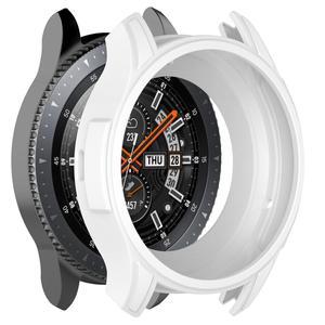 Image 5 - Funda protectora de silicona 5 colores para Samsung Gear S3 Frontier Protector de pantalla estuche para reloj inteligente para Galaxy Watch 46MM