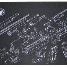 Векторная оптика 36x12 дюймов 7,62 AK 47 AK-47 скамья для чистки пистолета резиновый коврик аксессуар все Список печатных