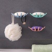1 PC Yeni Taç Banyo Yumruk ücretsiz Sabun Kutusu Banyo Drenaj Sabun Tutucu Banyo Duvar Asılı Raf sabun tutucu|Taşınabilir Sabun Yemekleri|Ev ve Bahçe -