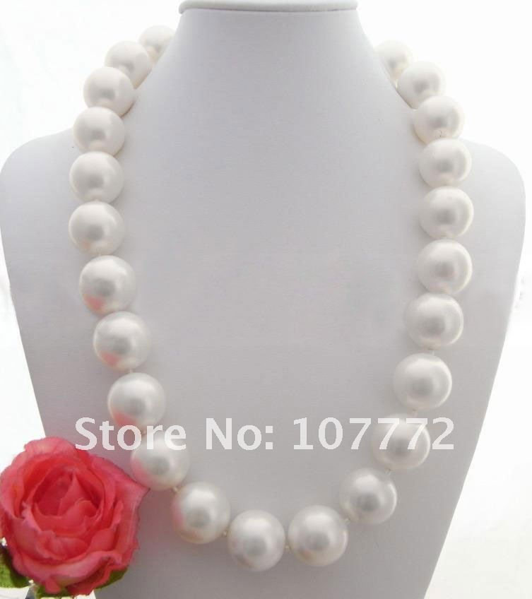 20 MM South Sea White Round Shell Pearl Necklace