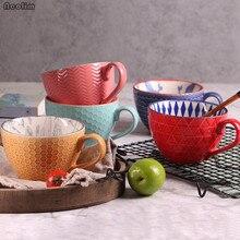 Ретро фарфоровая чайная чашка Керамическая ручная роспись офисная кофейная чайная кружка рельефная индивидуальная кофейная молочная кружка посуда для напитков