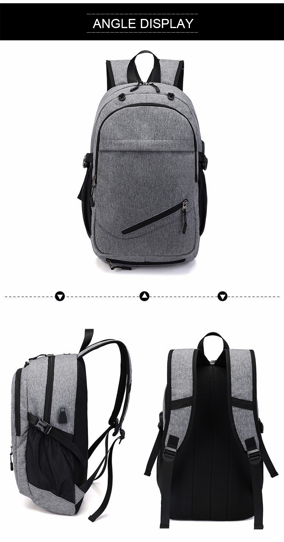 Travel Backpack Student Backpacks Laptop Notebook Back Pack Men Male Waterproof Bagpack USB Charging School Bags For Teenagers (11)