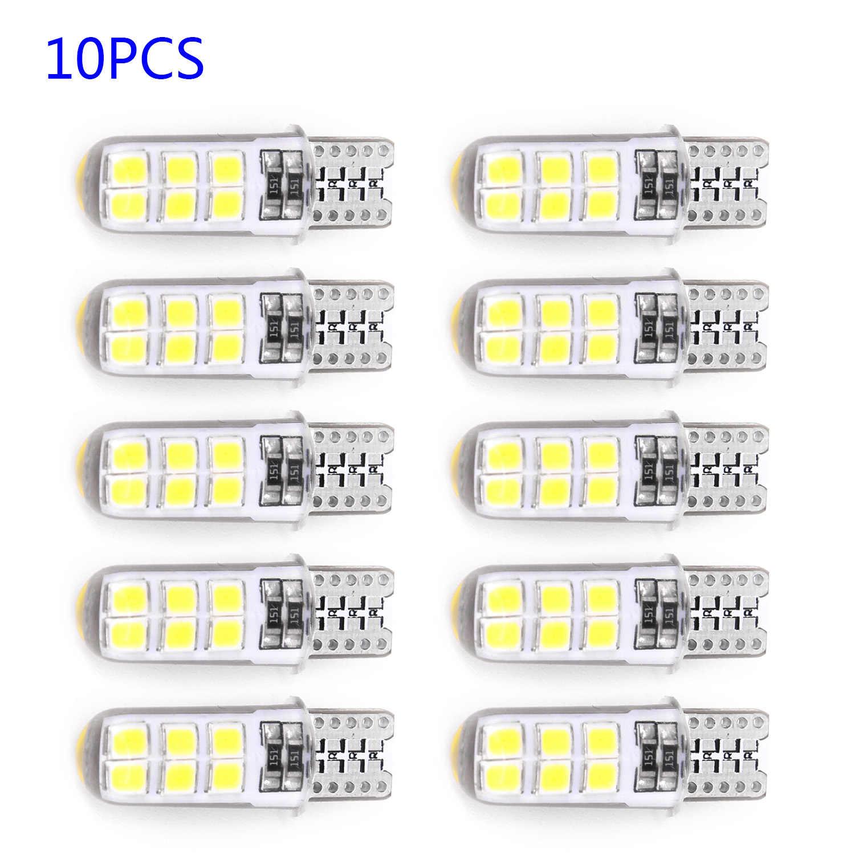 10X2 W 194 W5W T10-2835-12SMD LED Cob blanco matrícula de coche luces bombilla de lámpara