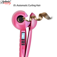 Automatic Curler LED Hair Curlers Perm Curl Hair Rolloer Styler hair curlers plastic spiral waves travel rotating iron