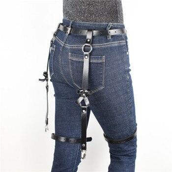 Leather Harness Garter Belt  4