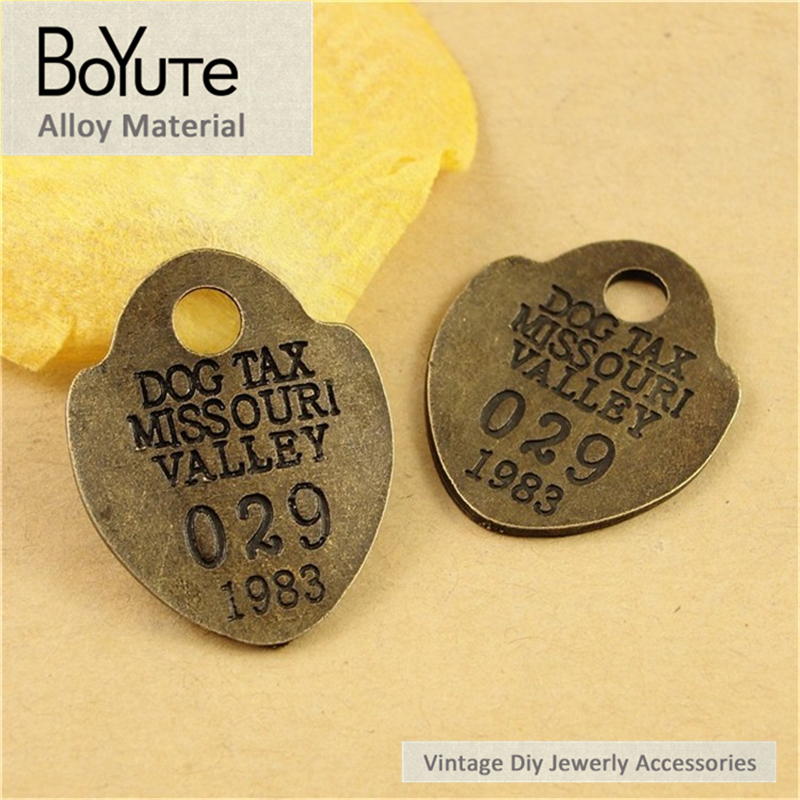 BoYuTe (60 Pieces/Lot) 29*23MM Antique Bronze Plated Alloy Word Plate Vintage Pendant Diy Jewelry Findings Accessories