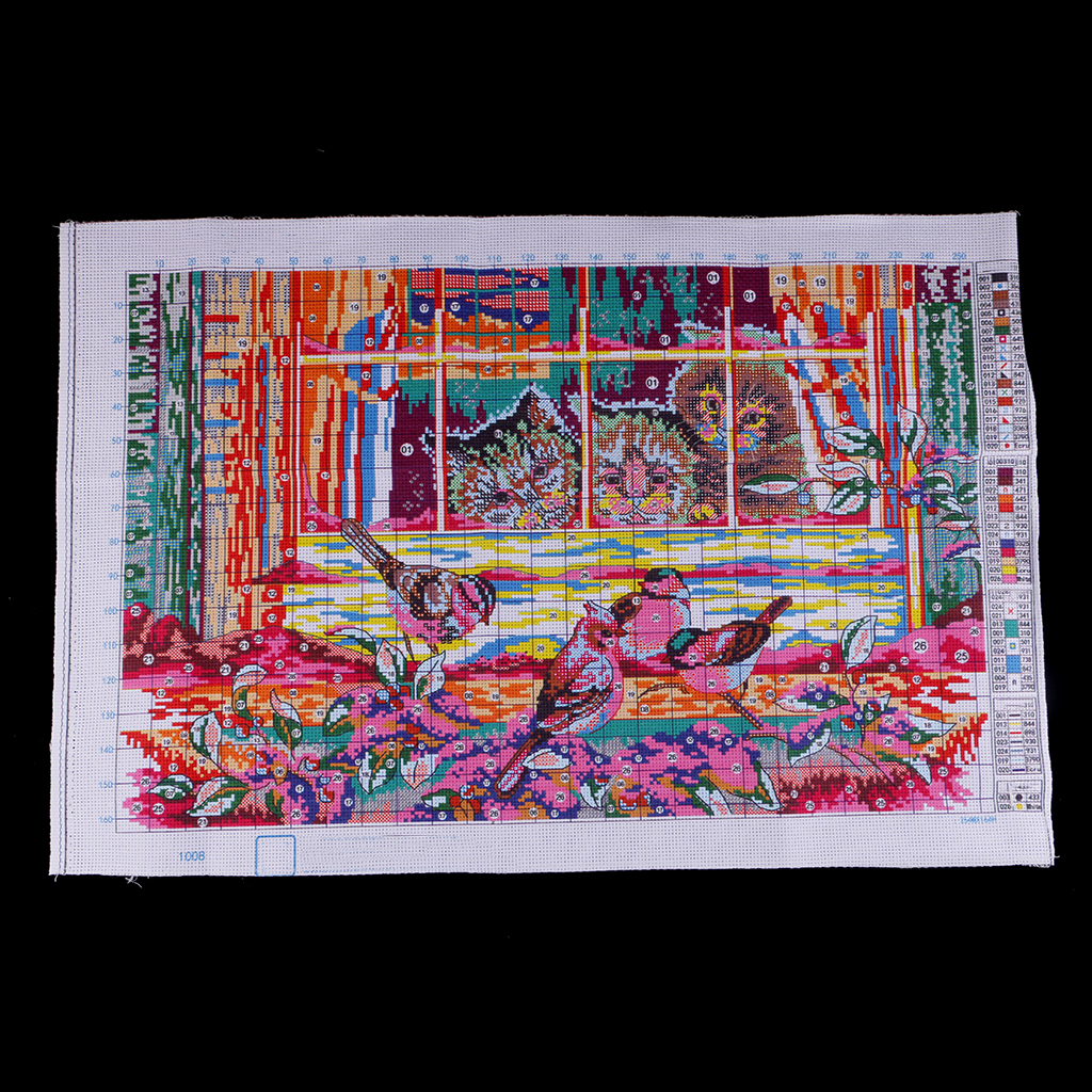"""Stamped Cross Stitch Kits /""""Lovely Life/"""" DIY Needlework for Friends Kids Gift"""