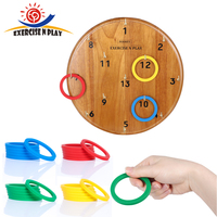 Plastic Dart Ring Funny Kids Indoor Sport Toys Hoop Ring Toss Wooden Disc Game Set Outdoor Family Games for Adults Children