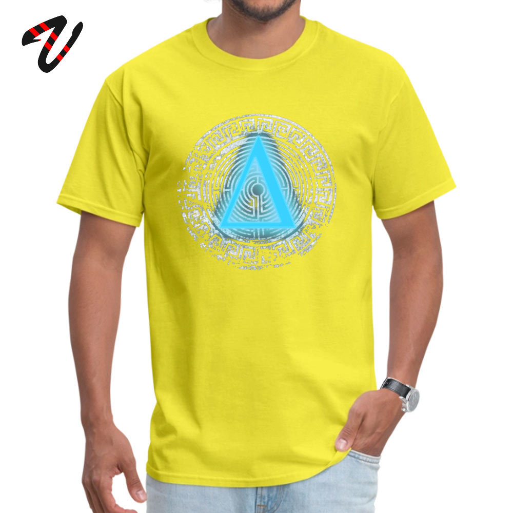 Street Daedalus O-Neck T-Shirt April FOOL DAY Tops T Shirt Short Sleeve for Men New Design 100% Cotton Fabric Top T-shirts Daedalus 12251 yellow
